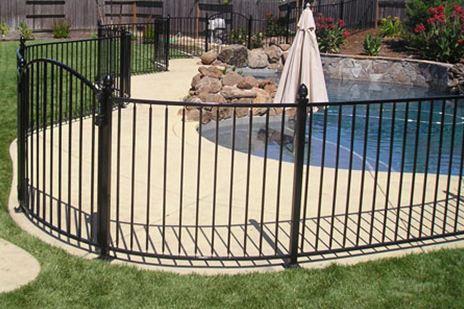 Indianapolis Wrought Iron Pool Fence